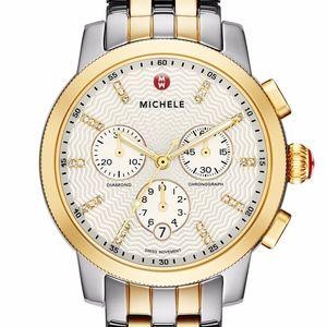 Michele Uptown Diamond Dial Chronograph Watch 39mm